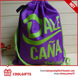 Recyle Advertising 190t Polyester Drawstring Bag for Travel and Gift pictures & photos