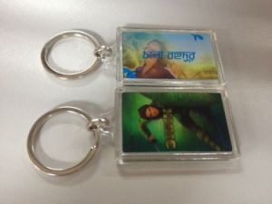 2015 Plastic 3D Custom Acrylic Keychain pictures & photos