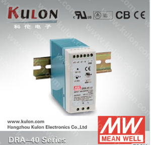 Mean Well Power Supply Dra-40 12V 24V 48V Industrial DIN Rail Switching Power Supply