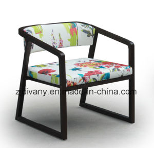 Neo-Chinese Style Wood Fabric Sofa Chair (C-53) pictures & photos
