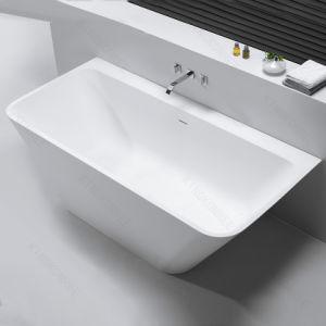 White Matt Solid Surface Freestanding Bath Tub pictures & photos