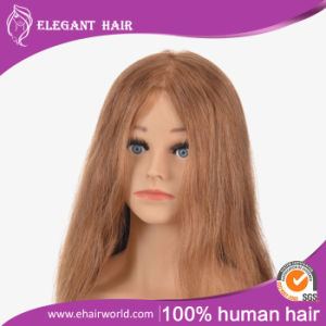 Human Hair Manequin Head 20inches for Hair Style Training pictures & photos
