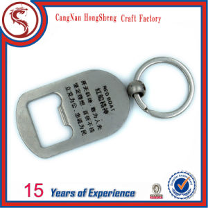 Customized New Design Metal Bottle Opener with Keyring pictures & photos