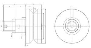 Hpve125, V-Grooved Eccentric Stud, Osborn Design Bearing, Load Runner, Idler-Rollers