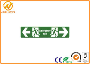 Custom Printed Photoluminescent Fire Emergency Exit Sign for Danger Caution Workplace pictures & photos