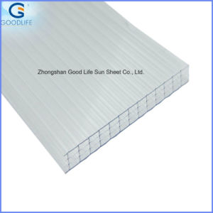 Bronze UV Coating Twin-Wall Ceiling Hollow Sheets for Greenhouse pictures & photos
