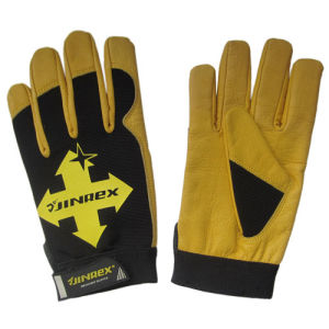 Cow Leather Palm Promotion Mechanical Worker Hand Safety Protect Gloves pictures & photos