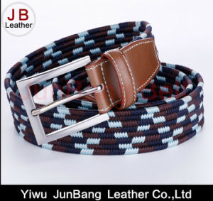 Ladies Pin Buckle Polyester Elastic Braid Belts pictures & photos