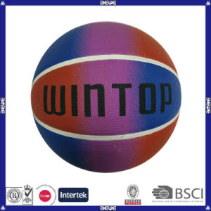 Hot Sale Custom Brand Rubber Basketball Ball pictures & photos