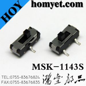 Manufacturer 3pin DIP Push Button Switch/Slide Switch (MSK-1143) pictures & photos