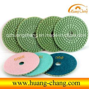 "4"" Diamond Flexible Wet Polishing Pads for Marble/Granite/Concrete"