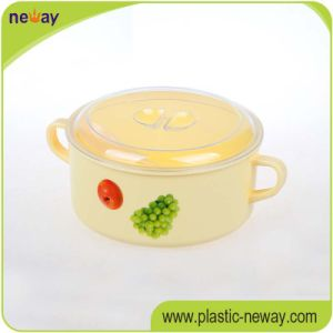 Professional Factory Colorful Round with Handle Plastic Lunch Food Box Containers for Kids pictures & photos