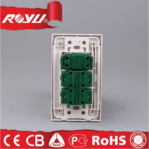 2*4 Inch Screwless Installation 16A Push Button Switch and Socket pictures & photos