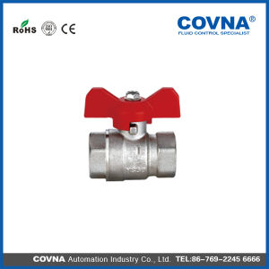 "1/8"" Covna Forged Brass Ball Valve with T Handle pictures & photos"