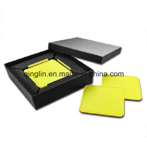 Custom Promotional Yellow Business Cup Mat/Coaster Gift Set (QL-TZ-0005) pictures & photos