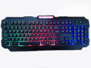 3 Colors Wired USB Computer Game LED Backlit Keyboards (KB-1901EL) pictures & photos