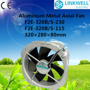 320mm Metal Blade Large Air Flow Industrila Cage Type Structure Motor Axial Fan (F2E-320B/S-230/115) pictures & photos