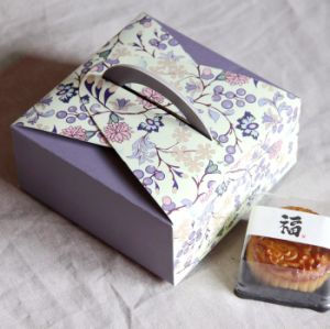 Purple Color Paper Cardboard Cookies Packing Gift Box pictures & photos