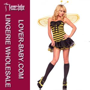 Sexy Bumble Bee Dress for Halloween Adult Cheap Costume (L15278) pictures & photos