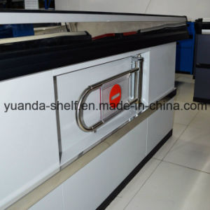 Supermarket Cash Currency Checkout Cashier Desk Stainless Steel Counter pictures & photos