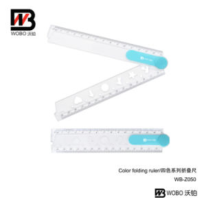 Geometry Shape Folding Plastic Ruler for School Office Stationery