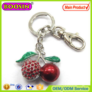 Rhinestone Cherry 3D Metal Keychain Custom Design Welcomed #15293 pictures & photos