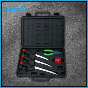 5 Fishing Cutlery Fishing Tool Set with Filling Knife, Pillar, and Sharpen pictures & photos