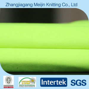 Fluorescent Green Polyester Cotton Mesh Fabric for Sportswear (MJ5038)