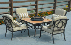 Outdoor Alumnium BBQ Grill Dining Set (PAD-1401)