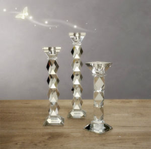 Home Decoration Crystal Glass Candle Holder (KS270687) pictures & photos