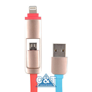 2in 1 Charging Sync Data USB Cable for iPhone 6 pictures & photos