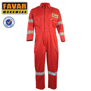 Safety Red Fire Retardant Cotton Working Coverall pictures & photos