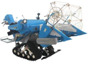 Full Feeding Mini Combine Harvester Crawler 0.9kg/S
