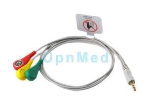 OEM Holter One Piece 3-Lead ECG Cable with Leadwires pictures & photos