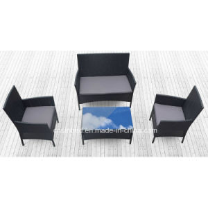 Outdoor Rattan Sofa for Garden with SGS Certificated (1002-black) pictures & photos
