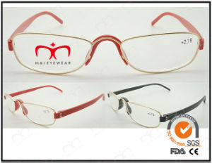 Hot Selling Colorful Tr90 Temples Metal Optical Frames (WRM503019) pictures & photos