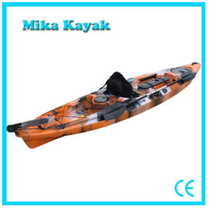 Fishing Sit on Top Sea Pedal Kayak Sail Boat with Rudder System pictures & photos