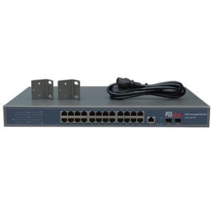 L2 Management Ethernet Switch 24 Port RJ45 and 4ge/SFP Combo Poe Optional pictures & photos