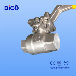 New Type Full Bore Thread 2PC Ball Valve with Platform pictures & photos