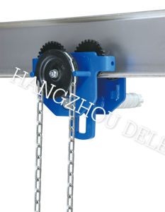 High Quality Hand Trolley Geared Trolley for 10t pictures & photos