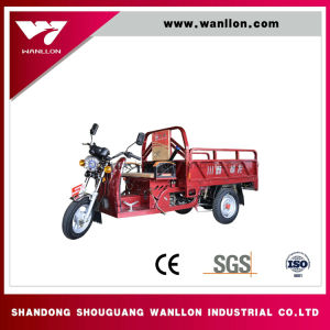 Motorized and Elctric Mixed Powered /3 Wheel Motorcycle for Cargo / Hybrid Power Tricycle pictures & photos