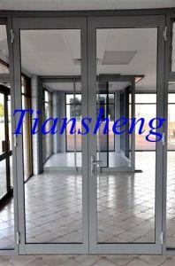 Aluminium Hinged Door Entrance Door /Aluminum Window and Door with Double Glazing pictures & photos