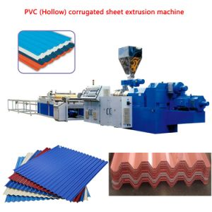 PVC (Hollow) Corrugated Sheet Machine pictures & photos