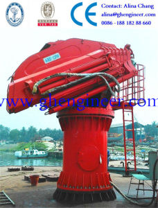Knuckle Boom Crane with Separate Hydraulic Station for Tug Boat pictures & photos