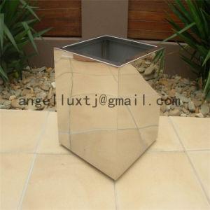Square Shape Decoration Metal Flowerpot Mirror Surface for Park Garden pictures & photos