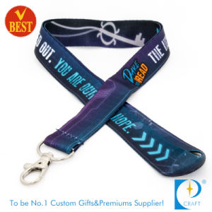 Custom Heat Transfer Printed ID Badge Polyester Lanyard pictures & photos