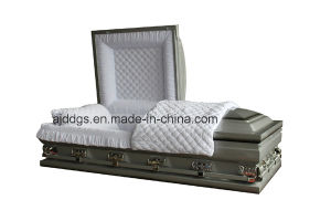Silver Shaded Black Finish Casket (Oversize)