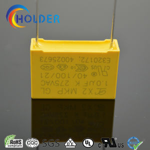 Metallized Polypropylene Film Capacitor (Interference Suppressors Class-MKP X2) (1.0uFK 275VAC) pictures & photos