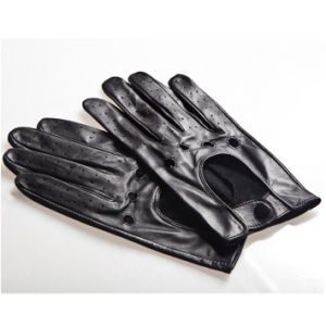 Men′s Fashion Goatskin Leather Driving Gloves (YKY5190) pictures & photos