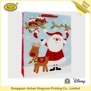 Custom Printed Christmas Paper Gift Carrier Bag pictures & photos
